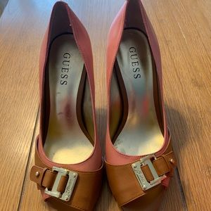 Guess Tensee Peep-Toe Pumps